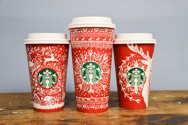 Starbucks Christmas Coffee Cups.From The Design Desk Starbucks Holiday Cups The Daily