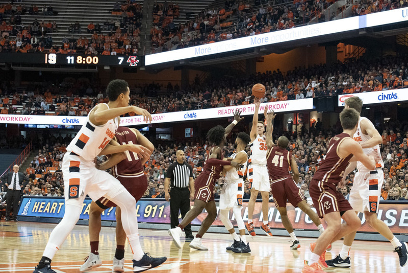Syracuse Holds Boston College To 13 1st Half Points In 76 50 Win
